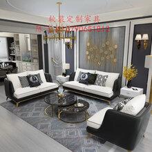 藤椅家具、贵飞椅家具、造物后现代简轻奢单人布艺沙发休闲椅图片