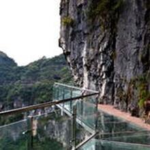 河南景区玻璃吊桥安装厂家告诉您玻璃吊桥和悬索桥的区别图片