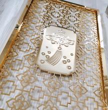 电镀青古铜铝板雕花镂空屏风隔断图片