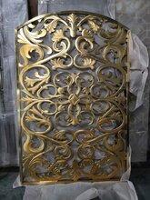 2021新款纯铜材质雕刻工艺金属装饰屏风花格定制图片