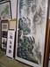 杭州江干書畫油畫低價實木裱框裱立軸裱橫批裱長卷