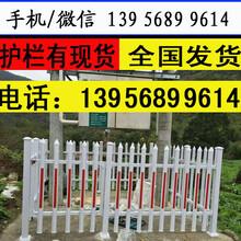 温州市龙湾pvc绿化带白色草坪护栏厂家批发图片