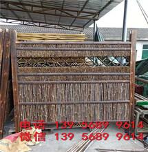 临汾浮山装饰小围墙花爬藤架室外竹竿子篱笆供货商图片
