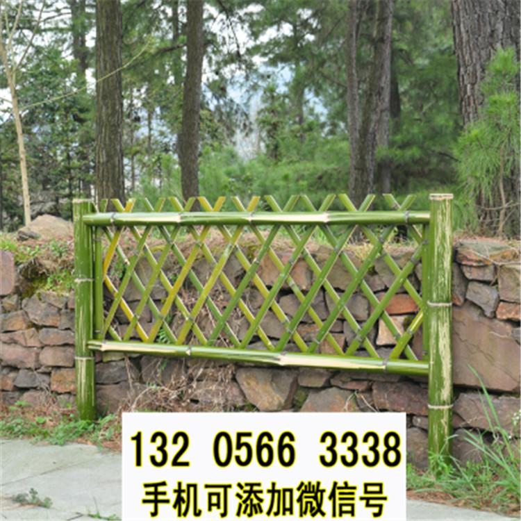 湖北仙桃伸缩碳化木护栏庭院栅栏竹篱笆竹子护栏