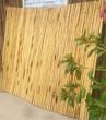 辽宁营口伸缩户外田园白色木桩竹篱笆竹子护栏图片