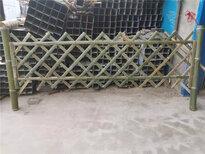 遼寧營口伸縮戶外田園白色木樁竹籬笆竹子護欄圖片1