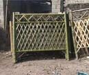 浙江衢州花园隔断装饰户外花坛木制护栏竹篱笆竹子护栏图片
