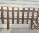 湖北鄂州伸缩户外防腐木实木围栏竹篱笆竹子护栏图片
