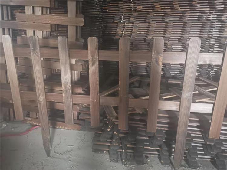 福建三明紫竹子花园防腐碳化木竹篱笆竹子护栏