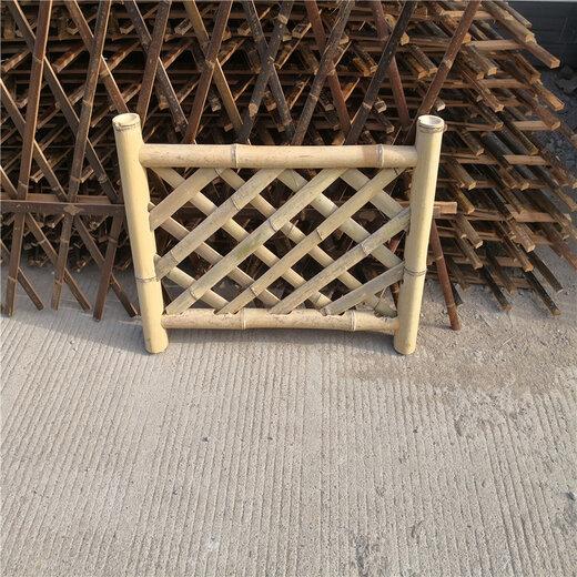 九江碳化竹篱笆户外防腐木栅栏竹篱笆竹子护栏