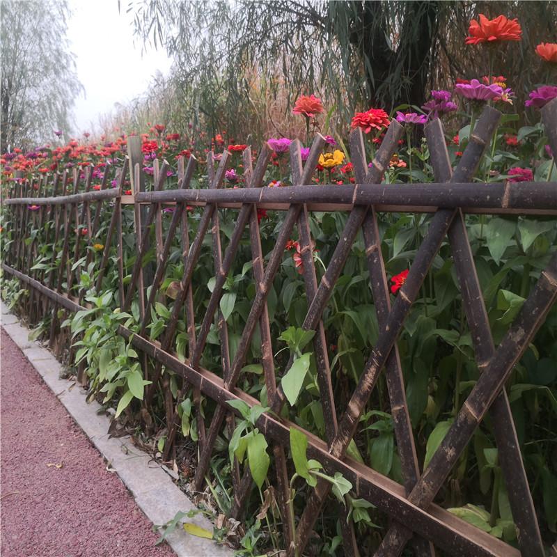 防城港伸縮竹籬笆戶外草坪護欄竹籬笆竹子護欄