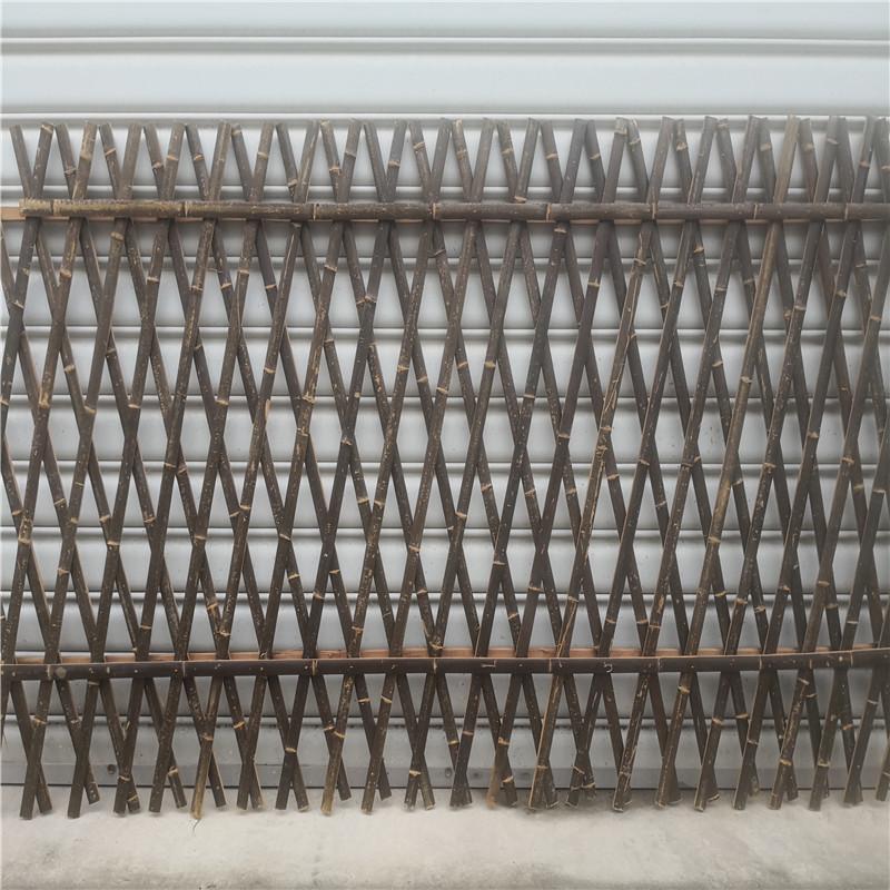 宁德室外篱笆碳化实木护栏竹篱笆竹子护栏