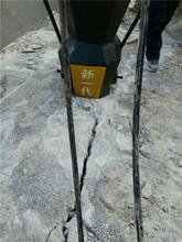 日照市优势石料场开采岩石劈裂棒图片