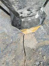 湖北随州大块岩石无声开采劈裂棒成本图片