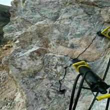 修路挖河道硬石头破碎清除劈裂机破石快产量高