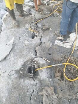 中山修路破石开采用碎石分裂棒图片