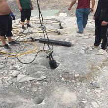 江西省地基巖石靜態開采石頭分裂機圖片