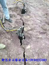 矿山不允许爆破分石头破裂机图片