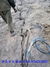 挖坑基破石头劈裂机液压柱塞劈裂棒大石桥市图片