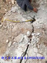 代替破碎锤劈石液压岩石分裂机图片