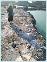地基開挖免放炮破石劈裂機圖片