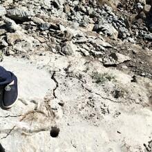 玉石开采沟槽开挖石头太硬裂石机图片