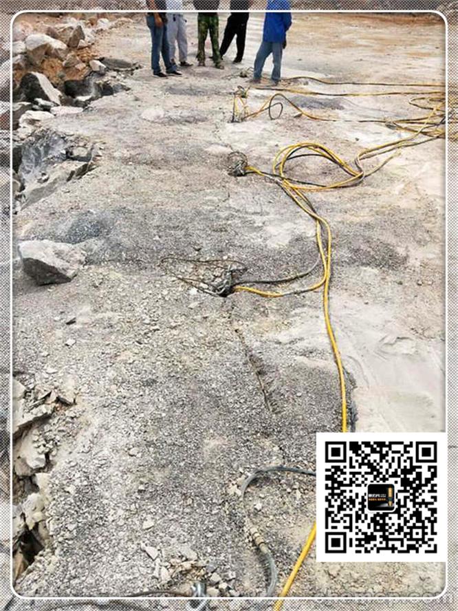 郑州市路坡基础挖石平整场地分裂机石头劈裂机西南