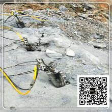 郑州市路坡基础挖石平整场地分裂机石头劈裂机西南图片