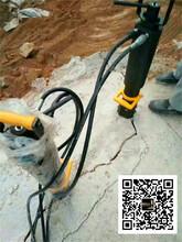 蠡县石料厂石头二次开采裂石机贵不贵图片
