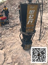 武平县大型液压劈裂机静音开采图片