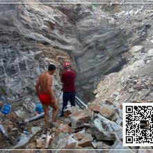 四川达州破碎坚硬岩石破裂棒能破裂图片