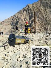 临夏市大型石块花岗岩开采液压分裂器一套设备采石成本图片
