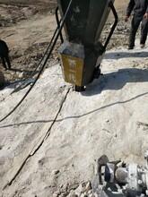 露天礦山開采不能爆破開采效果頂石器圖片