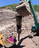 不用炮锤大型岩石分裂器基槽开挖机