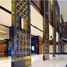 佛山铄旺不锈钢屏风厂家餐厅酒楼中式黑钛拉丝不锈钢屏风装饰隔断