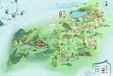 山東城市景點地圖制作景區地圖旅游手繪導覽圖
