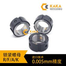 KAKA徑向鎖定R型機床絲桿軸承防松止退金屬精密鎖緊螺母帽生產廠圖片