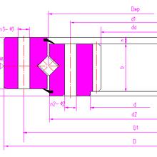 内齿回转支承114.25.1231.03交叉圆柱滚子转盘轴承洛阳新能轴承制造图片