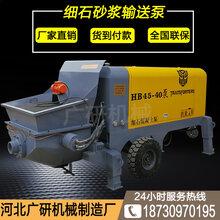 细石砂浆输送泵40型混凝土输送泵地泵建筑机械120米垂直高度