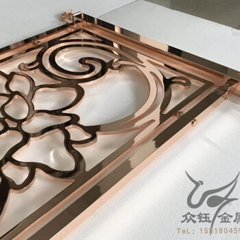 定制高贵纯铜雕刻护栏