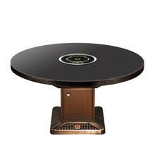 火锅桌椅家具价格下沉式大理石火锅桌定做厂商供应