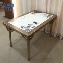 餐飲店實木桌椅定做,小食候湘湘菜館桌子,中式餐廳餐桌