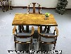 奥坎实木原木整块大板办公桌会议桌书桌餐桌茶桌