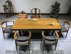 花梨木奥坎实木老板洽谈桌实用书桌