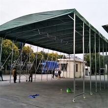 吴忠环保湘粤钢构雨棚,露天餐饮推拉蓬图片
