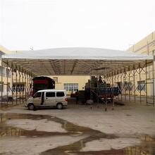 肇庆广宁商业街移动推拉蓬餐饮遮阳棚大型电动伸缩帐篷图片