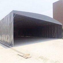 上海金山区电动折叠式推拉雨篷活动伸缩遮阳蓬移动仓储推拉棚图片