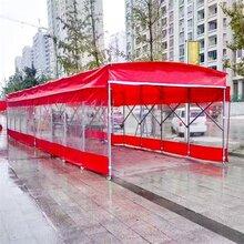 上海宝山区烧烤大排档手推移动雨棚伸缩可折叠大型推拉遮阳蓬图片