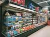 郑州定做四米五米水果风幕柜多少钱,定做安装水果保鲜柜