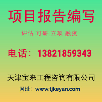 天津可以写政府资金申请报告正规公司编写